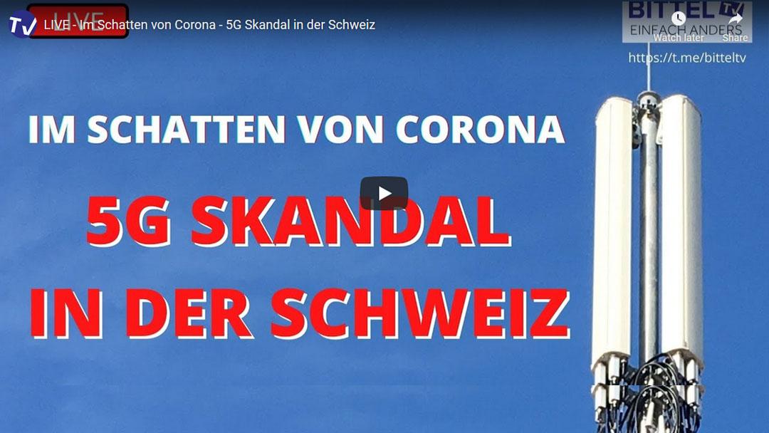 Live Interview auf BITTEL.TV – Im Schatten von Corona – 5G Skandal in der Schweiz