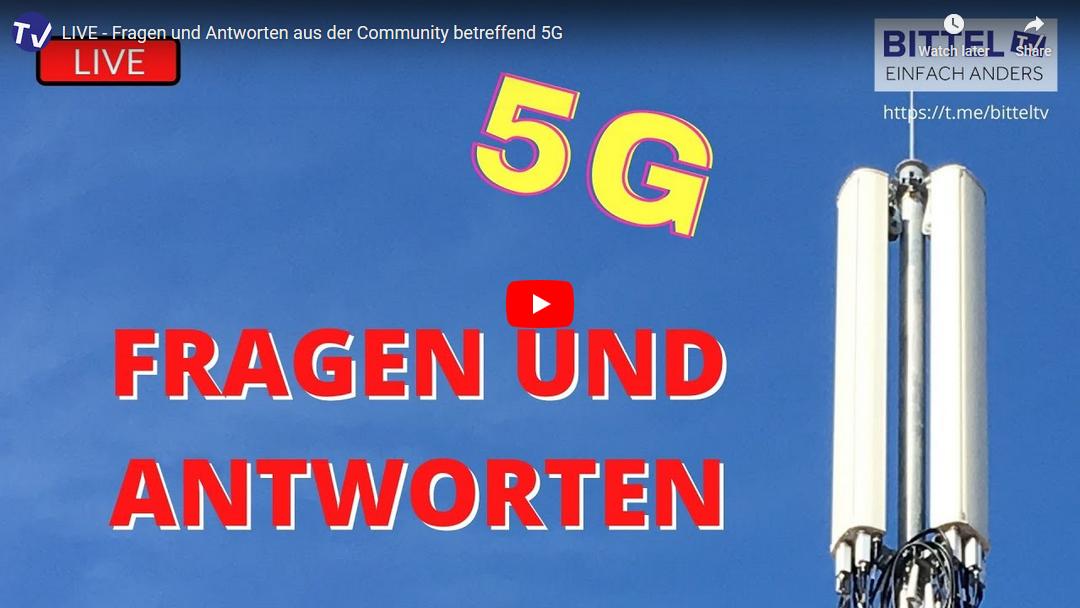 Live Interview auf BITTEL.TV – Fragen und Antworten aus der Community betreffend 5G
