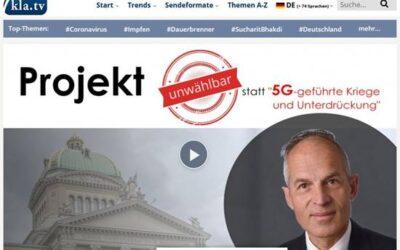 """Projekt """"Unwählbar"""" statt """"5G-geführte Kriege und Unterdrückung"""" (Vortrag mit Christian Oesch)"""