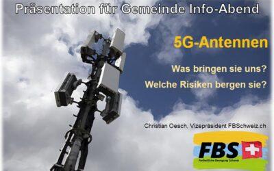 Um was geht's? 5G-Antennen Präsentation für Gemeinde & Städte Info-Abend