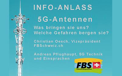 Informationsabend 5G-Antennen 5G – wie gefährlich sind die Strahlen wirklich?
